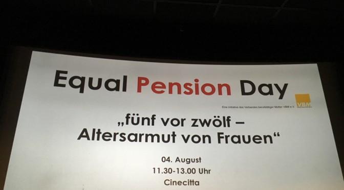Equal Pension Day – Alterarmut von Frauen in den Blick nehmen!
