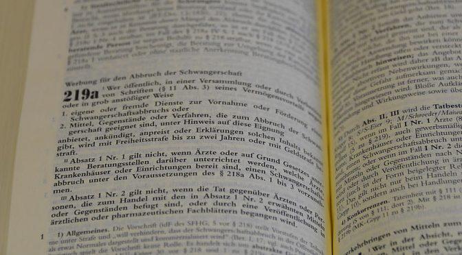 Paragraf 219a ersatzlos streichen
