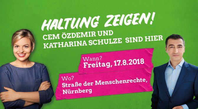 """""""Haltung zeigen!"""" Cem Özdemir und Katharina Schulze in Nürnberg"""