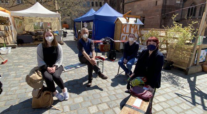 Klimacamp Nürnberg: Besuch bei den Weltrettern