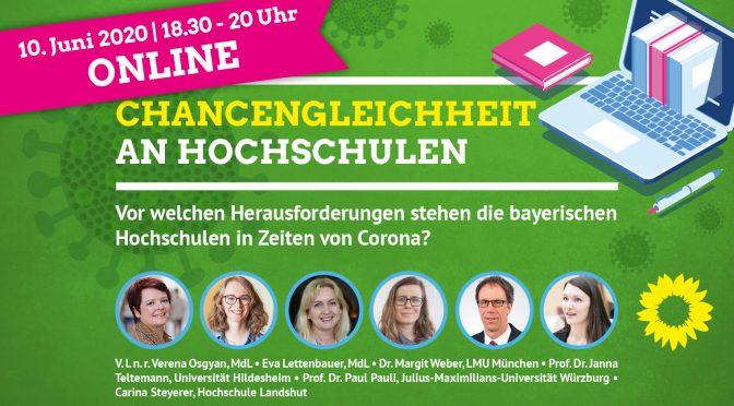 """Webinar: """"Chancengleichheit an Hochschulen"""""""
