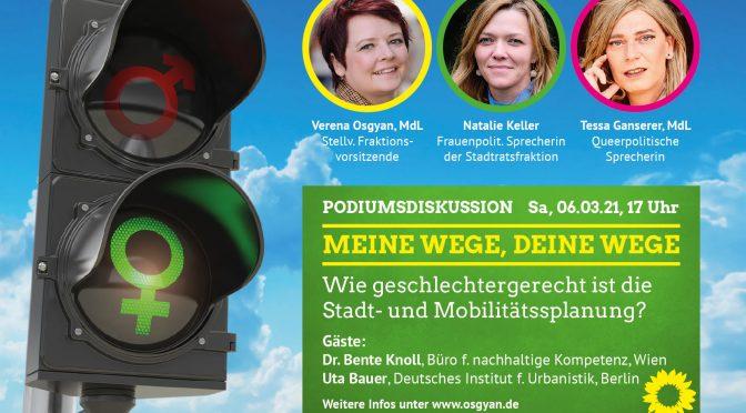 MEINE WEGE, DEINE WEGE – Wie geschlechtergerecht ist die Stadt- und Mobilitätssplanung?